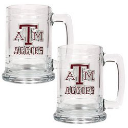 NCAA 2pc 15oz Glass Tankard Set - Texas A&M