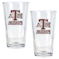NCAA 2pc Pint Ale Glass Set - Texas A&M