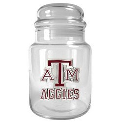 NCAA 31oz Glass Candy Jar - Texas A&M