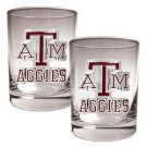 NCAA 2pc Rocks Glass Set - Texas A&M