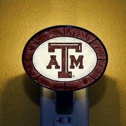 Art-Glass Nightlight - Texas A&M
