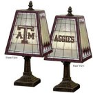 "14"" Art-Glass Table Lamp - Texas A&M"
