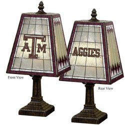 "14"" Art-Glass Table Lamp - Texas A&M"