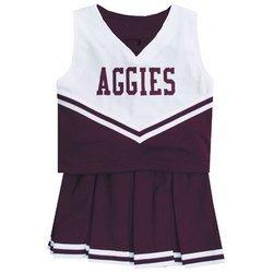 NCAA Cheerdreamer Two-Piece Uniform (Size - 8 Maroon) - Texas A&M