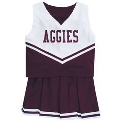 NCAA Cheerdreamer Two-Piece Uniform (Size - 6 Maroon) - Texas A&M