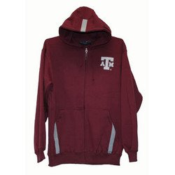 Full Zip Hoodie - Maroon - L - Texas A&M