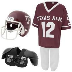 Youth NCAA Team Helmet and Uniform Set - Medium - Texas A&M