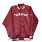 Satin School Jacket - Maroon - Texas A&M