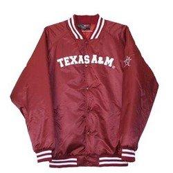 Satin School Jacket - Maroon - Texas A&M