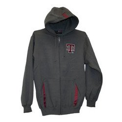 Full Zip Hoodie - Gray - M - Texas A&M
