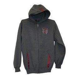 Full Zip Hoodie - Gray - L - Texas A&M
