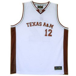 Basketball Jersey - White - XL - Texas A&M