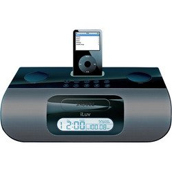 iPod® Stereo Docking System With Dual Alarm - Black - iLuv