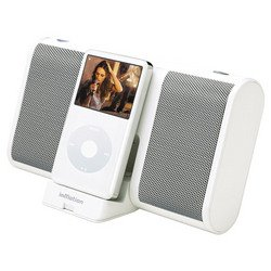 White InMotionTM Mobile Audio Speakers For iPod® - Altec Lansing