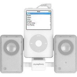 White Portable Amplified Mini Speaker - iSymphony