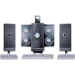 4-CD Hi-Fi Audio System With iPod® Docking Station - Black - iLuv