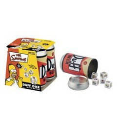 The Simpsons Duff Dice Game - USAopoly