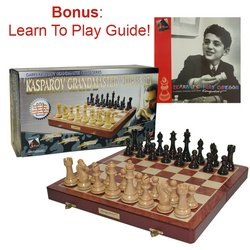 Kasparov Grandmaster Chess Set- Spruce-Tek (TM) Chess Pieces