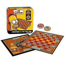 Simpsons Checkers and Tic Tac Toe - USAopoly