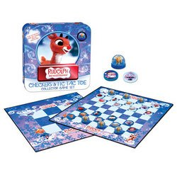 Rudolph Checkers and Tic Tac Toe - USAopoly