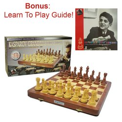 Kasparov Grandmaster Chess Set- Wooden Chess Pieces