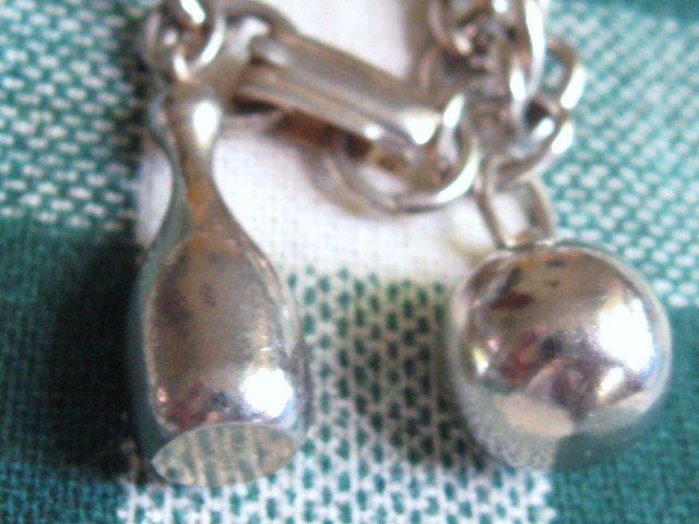 Vintage Bowling Pin/Ball Bracelet.