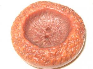 Big Vintage Orange Plastic Button.