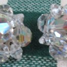 Vintage Rhinestone, Aurora B, Cluster Beaded Clips.