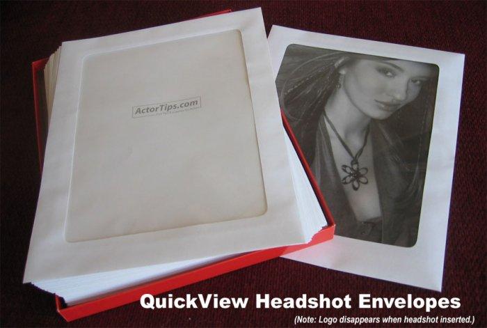 Clear Headshot Envelopes - 50 pack
