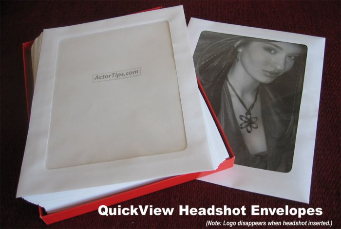 Clear Headshot Envelopes - 100 pack