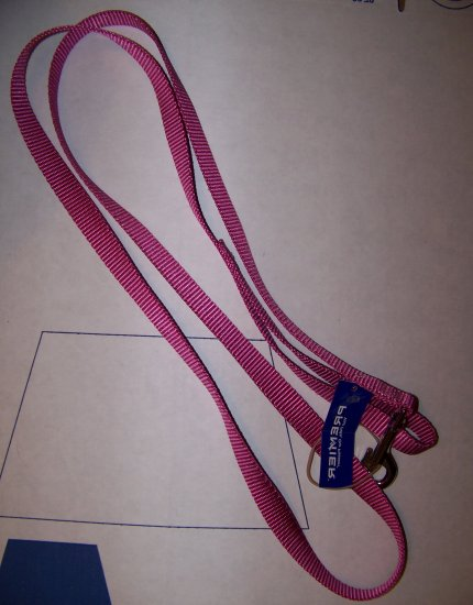 "Premier Nylon Dog Leash, 3/4"" W and 6'L Dusty Rose"
