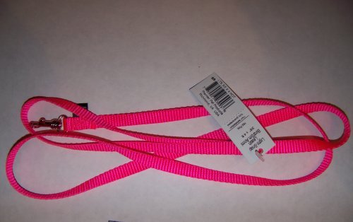 "Premier Lite Snap Leash - 3/8"" W x 4' L Hot Pink"
