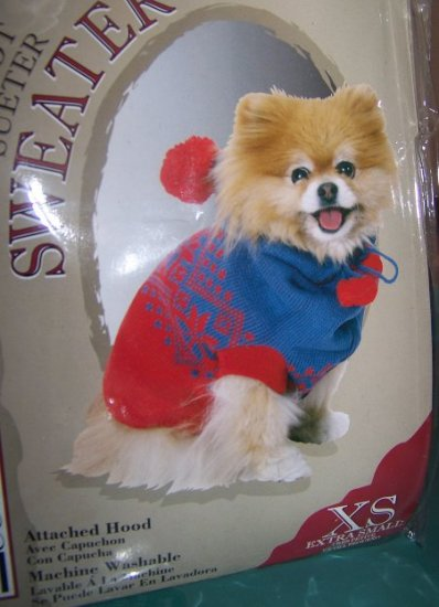 DoggiDuds Sweater XS Extra Small with Hood
