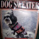 DoggiDuds Dog Sweater Mosaic Size 22
