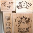 Stampin Up Patchwork Angel