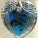 Wings Heart Pendant Turquoise
