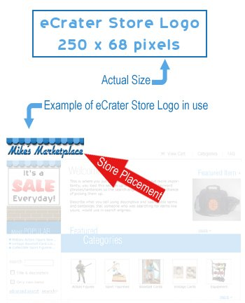 eCrater Custom Designed Store Logo Professional Computer Graphic Design Service