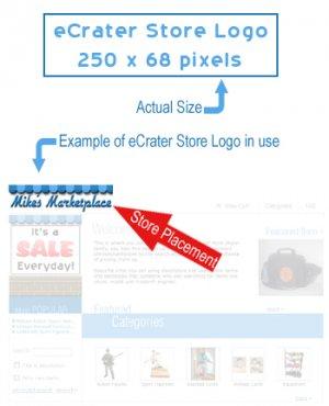eCrater Custom Designed Store Logo Professional Computer Graphic Design Service