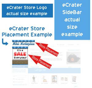eCrater Custom Designed Store Logo & Side Bar Professional Graphic Design Services