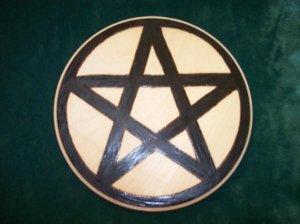 Wooden Pentacle Altar Tile