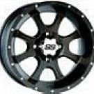 "25"" MUDLITE AT & ITP SS108 BLACK TIRE & WHEEL KIT POLARIS"