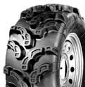 "25"" POWER KING MUDCAT TIRES & ITP SS108 BLACK TIRE & WHEEL KIT"