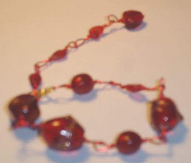 India inspired bracelet - Red