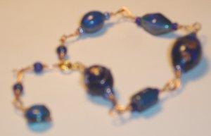 India inspired bracelet - Blue