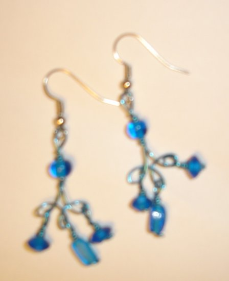 Bohemian earrings - Teal