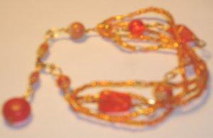 Summer beads bracelet - Orange
