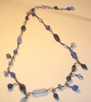 Dangling necklace - Blue