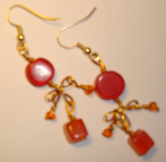Playful earrings - Orange