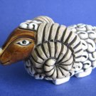 Aries Ram ceramic figurine