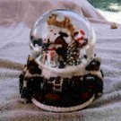 Santa's flight snowglobe